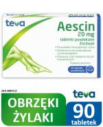 AESCIN - 90 tabl. Lek na niewydolność żylną - cena, opinie, ulotka