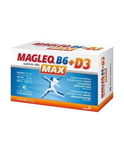 Magleq B6 max + D3 - 45 tabl. - cena, opinie, dawkowanie - Drogeria Melissa