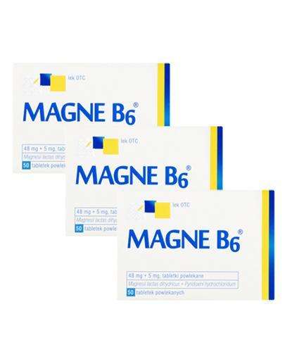 MAGNE B6 - 3 x 50 szt. Lek na niedobór magnezu.