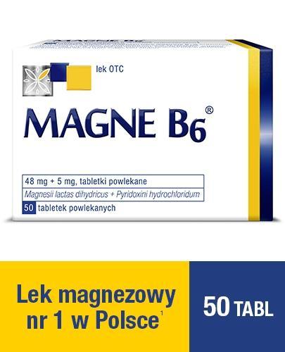 MAGNE B6 - 50 szt. Lek na niedobór magnezu.
