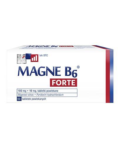 MAGNE B6 FORTE - 60 tabl. Na silne niedobory magnezu.