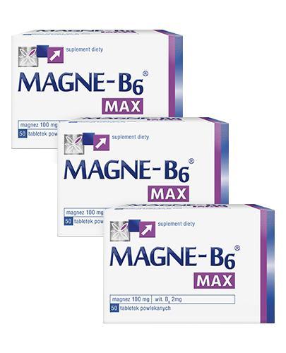 MAGNE-B6 MAX - 3 x 50 szt. Magnez, witamina B6 w tabletkach.