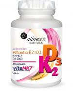 ALINESS Witamina K2 MK-7 100 µg z Natto + D3 - 60 kaps. - Apteka internetowa Melissa