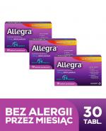 ALLEGRA 120 mg - 3 x 10 tabletek. Lek na alergię i katar sienny - cena, opinie, dawkowanie