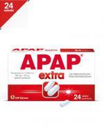 APAP EXTRA - Paracetamol 500 mg + kofeina 65 mg - 24 tabl.