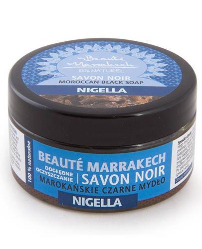 Beaute Marrakech Czarne mydło marokańskie Savon Noir z olejem z czarnuszki 100% Naturalne - 100 g - cena, opinie, skład - Apteka internetowa Melissa