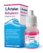 ARTELAC REBALANCE Preparat nawilżający oczy oraz soczewki kontaktowe - 10 ml - Apteka internetowa Melissa