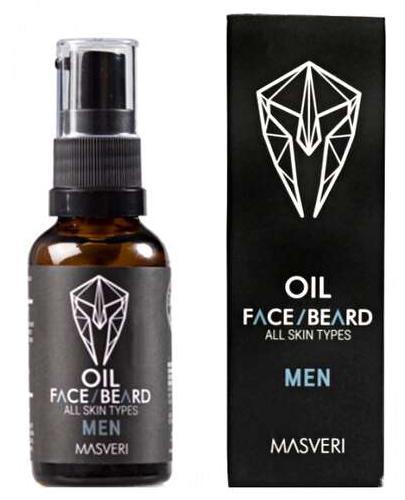 Masveri Men Olejek do twarzy i brody dla wszystkich typów skóry - 30 ml - cena, opinie, wskazania - Drogeria Melissa