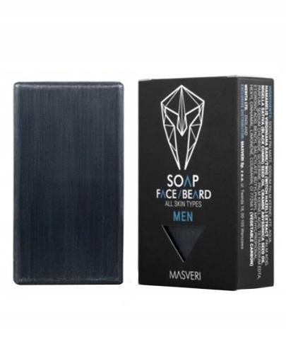 Masveri Men Mydło głęboko oczyszczające dla mężczyzn, do brody i wszystkich typów skóry - 100 g - cena, opinie, skład - Apteka internetowa Melissa