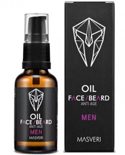Masveri Men Olejek do twarzy i brody anti age - 30 ml - cena, opinie, właściwości - Apteka internetowa Melissa