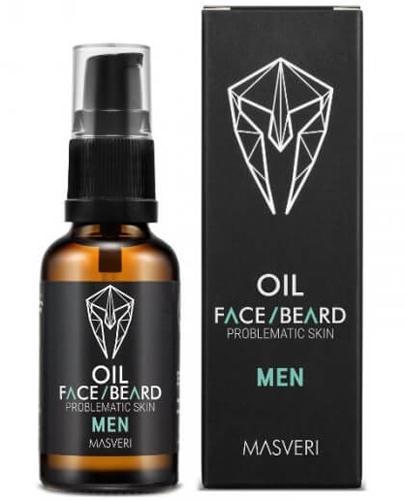 Masveri Men Olejek do twarzy i brody dla skóry problematycznej - 30 ml - cena, opinie, stosowanie - Drogeria Melissa