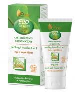 AVA ECO GARDEN Certyfikowany organiczny peeling i maska 2w1 ryż z ogórkiem - 30 ml - Apteka internetowa Melissa