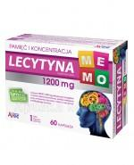 AVEC PHARMA Lecytyna memo 1200 mg - 60 kaps.  - Apteka internetowa Melissa