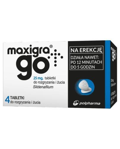 MAXIGRA GO - 4 tabl. - na zaburzenia erekcji - cena, opinie, dawkowanie