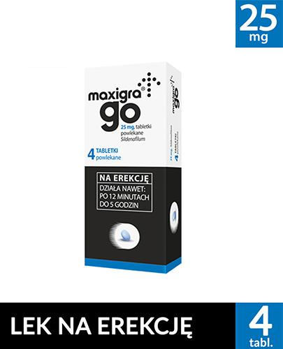 MAXIGRA GO - 4 tabl. - na zaburzenia erekcji - cena, opinie, dawkowanie - Apteka internetowa Melissa