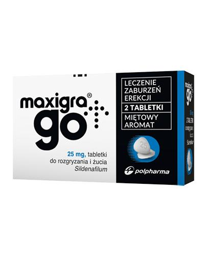 MAXIGRA GO - 2 tabl. Lek na zaburzenia erekcji - bez recepty - cena, opinie, wskazania