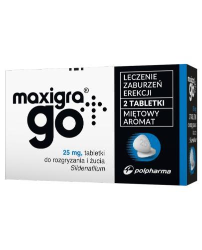 MAXIGRA GO - 2 tabl. Lek na zaburzenia erekcji - bez recepty - cena, opinie, wskazania - Apteka internetowa Melissa
