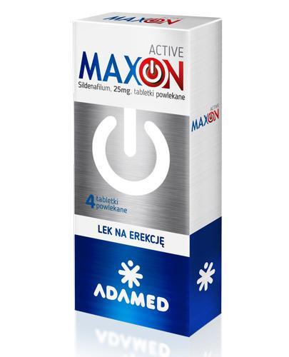 Maxon Active 25 mg - 4 tabletki. Lek na potencję