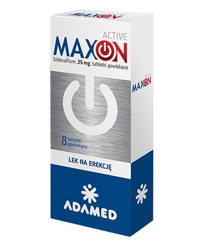 Maxon Active 25 mg  - 8 tabl. Lek na impotencję - cena, opinie, właściwości - Apteka internetowa Melissa