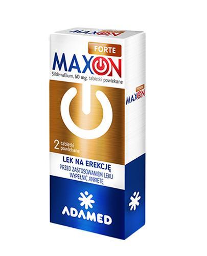 Maxon Forte 50 mg - 2 tabl. - Zaburzenia erekcji - cena, opinie, stosowanie  - Apteka internetowa Melissa