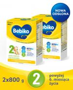 BEBIKO 2 Mleko modyfikowane następne dla niemowląt - 2x800 g