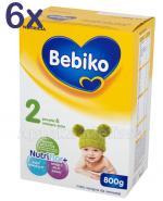 BEBIKO 2 Mleko modyfikowane następne dla niemowląt - 6 x 800 g