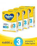 BEBIKO 3 JUNIOR Mleko modyfikowane następne dla niemowląt - 4x800 g - Apteka internetowa Melissa