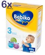 BEBIKO 3 JUNIOR Mleko modyfikowane następne dla niemowląt - 6 x 800 g