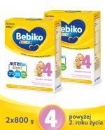 BEBIKO 4 JUNIOR Mleko modyfikowane następne dla niemowląt - 2x800 g - cena, opinie, skład