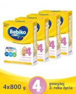BEBIKO 4 JUNIOR Mleko modyfikowane następne dla niemowląt - 4x800 g - Apteka internetowa Melissa