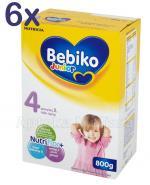 BEBIKO 4 JUNIOR Mleko modyfikowane następne dla niemowląt - 6 x 800 g