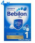 BEBILON 1 Z PRONUTRA Mleko modyfikowane w proszku - 4 x 1200 g