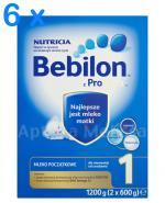 BEBILON 1 Z PRONUTRA Mleko modyfikowane w proszku - 6 x 1200 g
