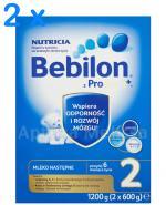 BEBILON 2 Z PRONUTRA+ Mleko modyfikowane w proszku - 2 x 1200 g