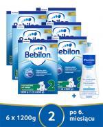 BEBILON 2 Z PRONUTRA+ Mleko modyfikowane w proszku - 6 x 1200 g + MUSTELA BEBE ENFANT Żel do mycia głowy i ciała dla niemowląt i dzieci - 500 ml - Apteka internetowa Melissa