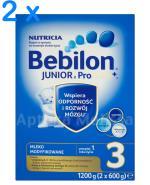 BEBILON 3 JUNIOR Z PRONUTRA+ Mleko modyfikowane w proszku - 2 x 1200 g