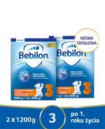 BEBILON 3 JUNIOR Z PRONUTRA+ Mleko modyfikowane w proszku - 2x1200 g  - Apteka internetowa Melissa