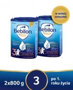 BEBILON 3 JUNIOR Z PRONUTRA+ Mleko modyfikowane w proszku - 2x800 g  - Apteka internetowa Melissa