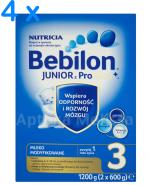 BEBILON 3 JUNIOR Z PRONUTRA+ Mleko modyfikowane w proszku - 4 x 1200 g