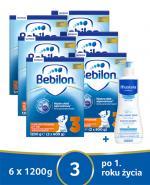 BEBILON 3 JUNIOR Z PRONUTRA+ Mleko modyfikowane w proszku - 6 x 1200 g + MUSTELA BEBE ENFANT Żel do mycia głowy i ciała dla niemowląt i dzieci - 500 ml - Apteka internetowa Melissa