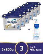 BEBILON 3 PROFUTURA Mleko modyfikowane w proszku - 6 x 800 g + MUSTELA BEBE ENFANT Żel do mycia głowy i ciała dla niemowląt i dzieci - 500 ml