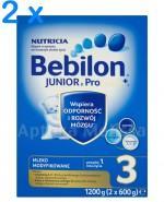 BEBILON 3 JUNIOR Z PRONUTRA+ Mleko modyfikowane w proszku - 2 x 1200 g  - Apteka internetowa Melissa