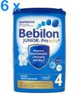 BEBILON 4 JUNIOR Z PRONUTRA+ Mleko modyfikowane w proszku - 6 x 800 g - Apteka internetowa Melissa