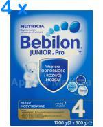 BEBILON 4 JUNIOR Z PRONUTRA+ Mleko modyfikowane w proszku - 4 x 1200 g