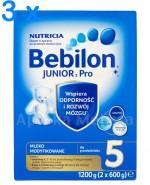 BEBILON 5 JUNIOR Z PRONUTRA+ Mleko modyfikowane w proszku -  3 x 1200 g - Apteka internetowa Melissa