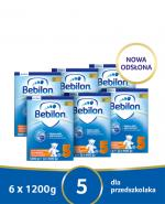 BEBILON 5 JUNIOR Z PRONUTRA+ Mleko modyfikowane w proszku - 6x1200 g  - Apteka internetowa Melissa
