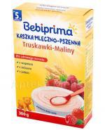 BEBIPRIMA Kaszka mleczno-pszenna truskawki-maliny po 5 m-cu - 300 g - Apteka internetowa Melissa