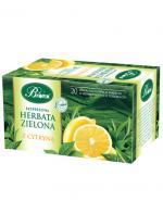 BI FIX Ekspresowa herbata zielona z cytryną - 20 sasz. - orzeźwia i pobudza - cena, opinie, własciwości
