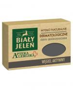 BIAŁY JELEŃ APTEKA ALERGIKA Mydło naturalne dermatologiczne WĘGIEL AKTYWNY - 125 g - cena, opinie, właściwości