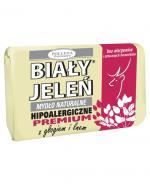 BIAŁY JELEŃ Hipoalergiczne mydło naturalne PREMIUM z głogiem i lnem - 100 g - Apteka internetowa Melissa